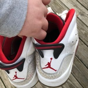 Red and white Jordan's sons of mars